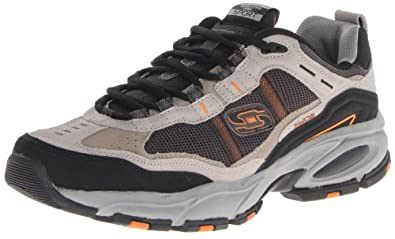 Skechers Men's Vigor 2.0 Oxford,Taupe/Black,6.5 M US