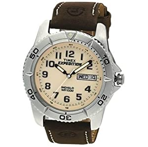 Compact & Practical Timex Men's Expedition Brown Strap Analogue Display Watch