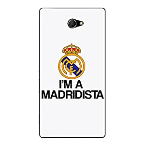 Jugaaduu Real Madrid Back Cover Case For Sony Xperia M2 Dual