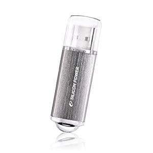 Silicon Power Ultima II-I Series 32 GB USB 2.0 Flash Drive - SP032GBUF2M01V1S (Silver)