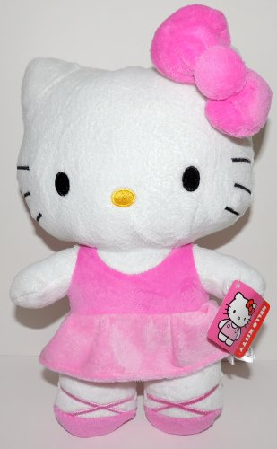 Hello-Kitty-Plush-105-Ballerina-Hot-Pink-Dress-by-Sanrio