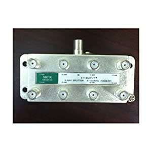 8-Port (8 output) Indoor/Outdoor High Performance MoCA® Enabling 5-1200MHz MHz Cable TV HDTV Coaxial Digital Signal Splitter - MCR