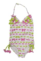 Kate Mack Girl's 7-16 Beach Bows Tank Swimsuit in Pink