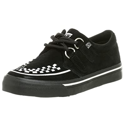 T.U.K. Unisex Interlace A6293 Sneaker,Black/White,Men's 4 M/Women's 6 M