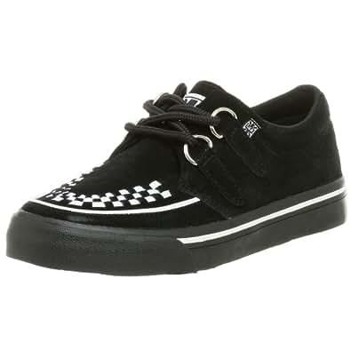 T.U.K. Unisex Interlace A6293 Creeper Sneaker,Black/White,Men's 4 M/Women's 6 M