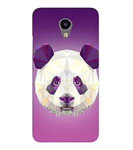 3D Vector Panda Cute Fashion 3D Hard Polycarbonate Designer Back Case Cover for Meizu M2 Note
