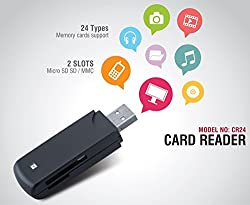 Iball Cr24 Card Reader / Writer With 24 Types Of Memory Card Support