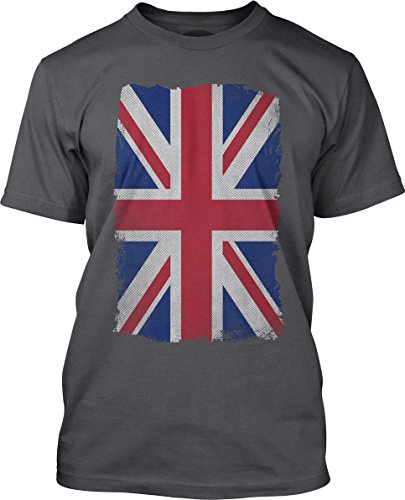 Big Texas Weathered Union Jack Fine Jersey T-Shirt, Concrete, 3Xl