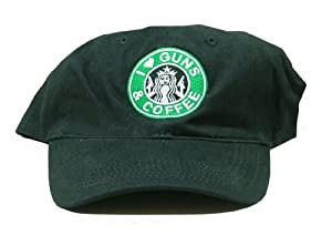 I Love Guns & Coffee Baseball Cap, Black