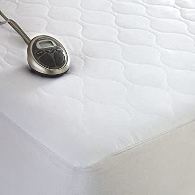 "Sunbeam Waterproof Heated Mattress Pad Size: California King 20 Heat Settings Digital Controllers Color: White Cal King 72"" x 84"""