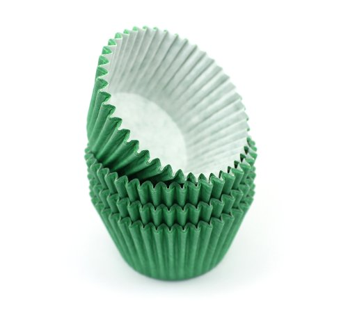 180 Verde oscuro verde Cupcake moldes para magdalenas de alta calidad