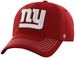 NFL New York Giants '47 Brand Game Time Closer Stretch Fit Hat, Red, One Size Stretch
