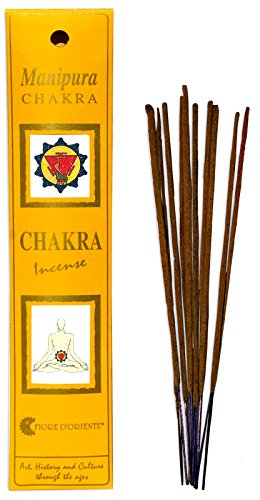 Fiore D'Oriente 3rd Chakra Incense Manipura 8 Sticks in Yellow Packaging