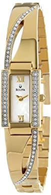 Bulova Womens 98V28 Crystal Bangle Watch