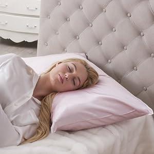 Jasmine Silk 100% 19 Momme Charmeuse Silk Pillowcase (PINK) 50 cm x 75 cm - RRP £35