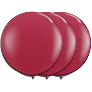 36 Inch Latex Balloon Scarlet Red (Premium Helium Quality) Pkg/3 from PMU