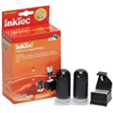 Inktec Brand Inkjet Refill Kit for Canon Pg-240, Pg-240xl Black Ink Cartridges for Mx439, Mx512, Mx432, Mx372, Pixma Mg2120, Mg3120, and Mg4220 Inkjet Printers (20ml X 2, Refill Clip, Pigment Ink).
