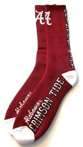 Buy Alabama Crimson Tide Flip Side Crew Socks Mens Size Large 10-13 - For Bare Feet by For Bare Feet
