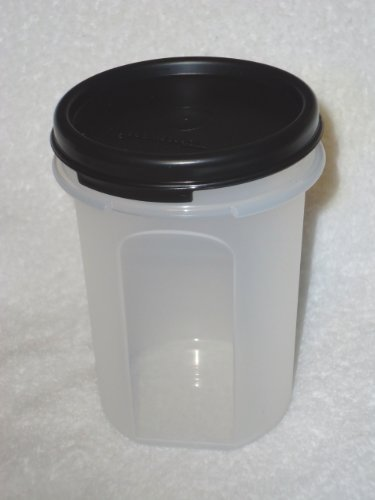Tupperware Modular Mates Round #2 14oz Capacity Snack Cup Black Seal (Tupperware Modular Mates Round 3 compare prices)