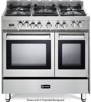 Verona-VEFSGE365NDSS-36-Pro-Style-Dual-Fuel-Range-with-5-Sealed-Burners-2-European-Convection-Ovens-Multi-Function-Programmable-Ovens-and-Storage-Drawer-Stainless-Steel