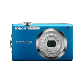 The Electronics World | Nikon Coolpix S3000 12MP Digital Camera with 4x Wide Angle Optical Vibration Reduction (VR) Zoom and 2.7″ LCD (Blue)