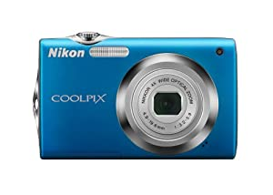 Nikon Coolpix S3000 12 MP Digital Camera with 4x Optical Vibration Reduction (VR) Zoom and 2.7-Inch LCD (Blue) (OLD MODEL)