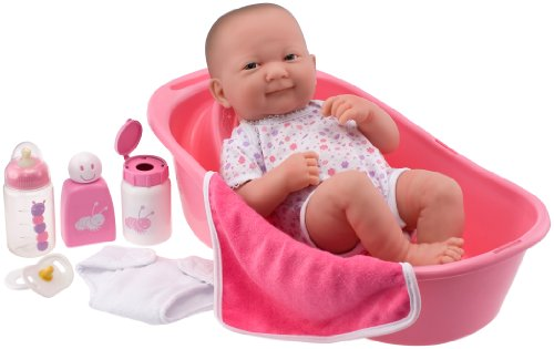 "Jc Toys 14"" La Newborn Deluxe Bath Set"