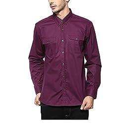 Yepme Men's Red Cotton Shirts - YPMSHRT1118_40