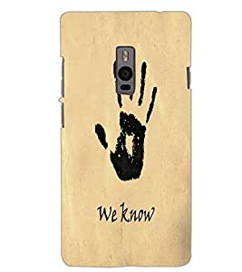 ONE PLUS TWO WE KNOW Back Cover by PRINTSWAG