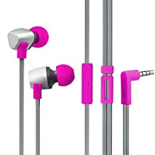 buy Toptele Fashion Colorful Lightweight Design In -Ear Earphone With Build-In Micphone3.5Mm Audio Jack For Iphone3S 4S 5S Samsung Galaxy 3S 4S5S Blackberry And Most Phones (Red Rose)