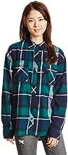 (アヴァンリリィ)Avan Lily チェックシャツ 1808A110-1620  柄GRN FREE