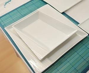 servizio da tavola 60 pzi in porcellana monza bianco servizio piatti 12 persone tinas. Black Bedroom Furniture Sets. Home Design Ideas