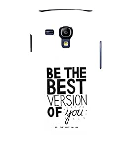 printtech Cool Quotes Life Back Case Cover for Samsung Galaxy S3 Mini::Samsung Galaxy S3 Mini i8190