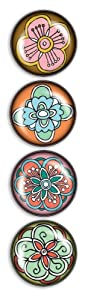 iPop Julia Rothman Flowers 4 Pack Clicks Magnet Set