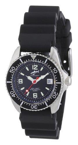 Chris Benz CBL.S.KB.SW - Reloj analógico de cuarzo para mujer con correa de caucho, color negro
