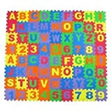 Alphabet & Number Foam Puzzle Play Mat 36 Pieces A-Z & 0-9