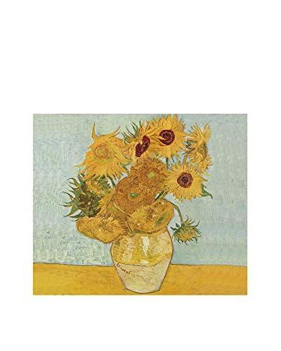 ARTE E TESSUTI by MANIFATTURE COTONIERE Pannello Decorativo Van Gogh-Girasoli