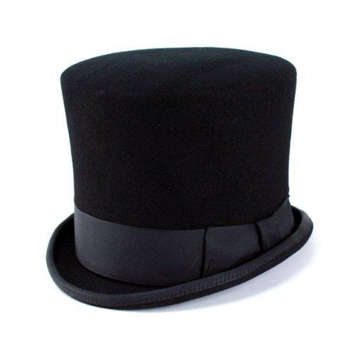 シルクハット 帽子 ニューヨークハット 小つば フェルト/18th CenturyTopper/5008/ブラック