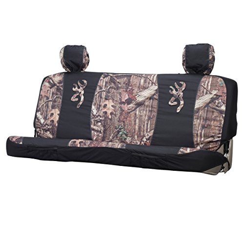 Browning Mid-Size Camo Bench Seat Cover (Mossy Oak Infinity Camo, Durable Polyester Fabric, Includes One Seat Cover and Two Headrest Covers, Sold Individually) (Bench Seat Covers For Girls compare prices)