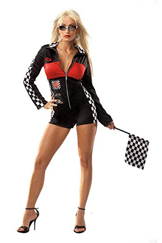 Racer Girl Sexy One Size Halloween Costume - Most Adults