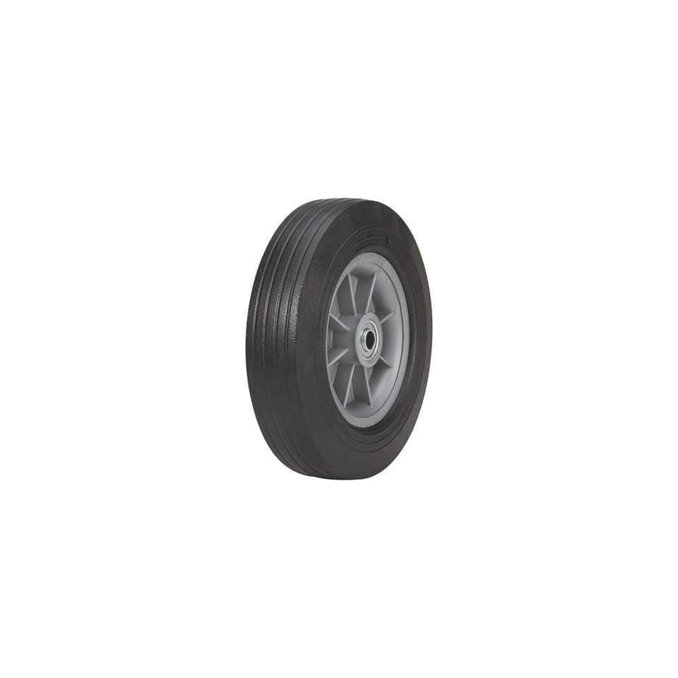 Martin Flat Free Solid Rubber Tire and Poly Wheel   10 x 275 Tire, Model# ZP1102RT 2C2