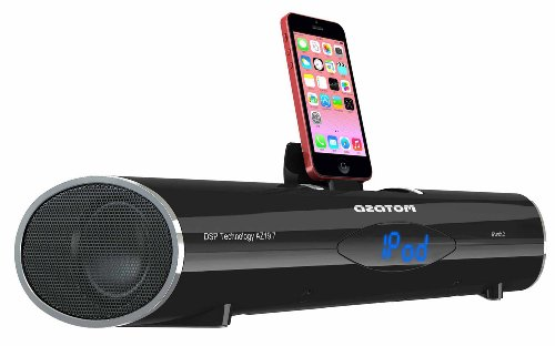 AZATOM® iPunch 2 Dock for iPhone 4/4S/5/5C/5S and all iPods: Nano 7G, Touch 5G - has Bluetooth and FM Radio functions with Remote Control - 30 Watts for Amazing Sound - Bluetooth lets you stream your music wirelessly: Perfect for Apple and Android device