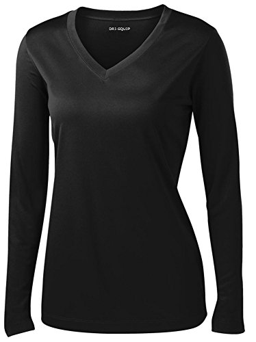 DRI-EQUIP-Ladies-Long-Sleeve-Moisture-Wicking-Athletic-Shirts-Sizes-XS-4XL