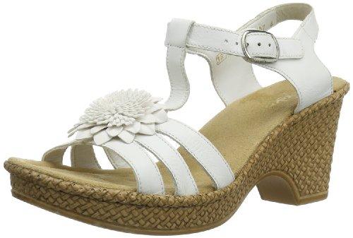 Rieker Womens Rieker Damen Sandalette T-Brace White Weià (weiss 80) Size: 39
