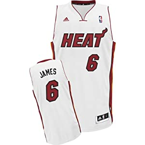 Adidas Youth NBA Miami Heat LeBron James Home Swingman Jersey, 14/16 - Large