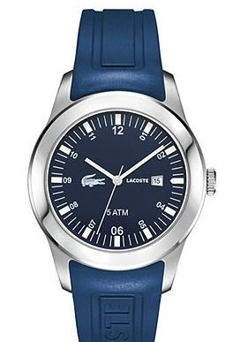 Lacoste Men's Advantage Blue Silicone Strap Watch 42mm #2010672