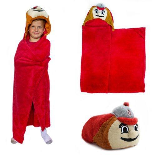 Ohio State Buckeyes NCAA Huggable Hooded Mascot Blanket