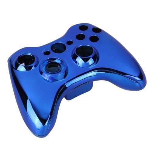 GoodQbuy® Chrome Full Housing Shell Case Cover for Xbox 360 Wireless Controller (Blue) (Xbox 360 Controller Blue Chrome compare prices)
