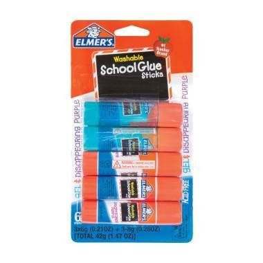 ELMERS GLUE FOR SCHOOL STICKS NON TOXIC WASHABLE 5 CT