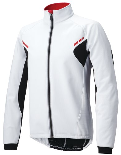 (パールイズミ)PEARL IZUMI メンズ ウィンドブレーク ジャケット 3500BL 8 ホワイト×ブラック L